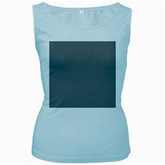 Plain Grey Women s Baby Blue Tank Top