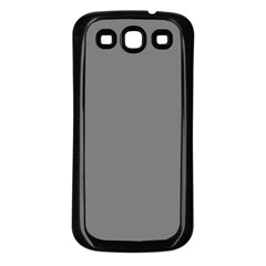 Plain Grey Samsung Galaxy S3 Back Case (Black)