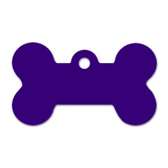 Plain Violet Purple Dog Tag Bone (One Side)