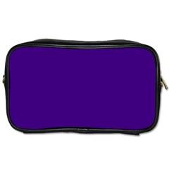 Plain Violet Purple Toiletries Bags 2-Side