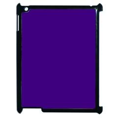 Plain Violet Purple Apple iPad 2 Case (Black)