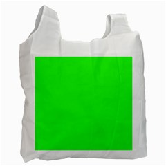 Plain Green Recycle Bag (One Side)
