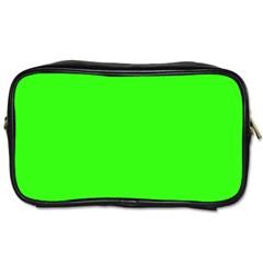 Plain Green Toiletries Bags