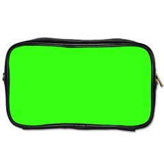 Plain Green Toiletries Bags 2-Side
