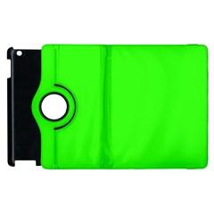 Plain Green Apple iPad 3/4 Flip 360 Case