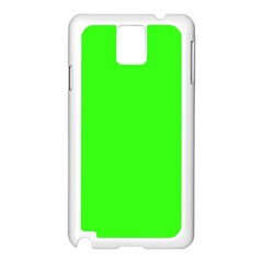 Plain Green Samsung Galaxy Note 3 N9005 Case (White)