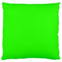 Plain Green Standard Flano Cushion Case (Two Sides)