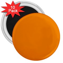 Plain Orange 3  Magnets (10 pack)
