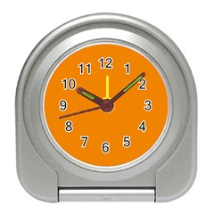 Plain Orange Travel Alarm Clocks