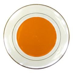 Plain Orange Porcelain Plates