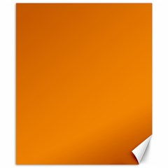 Plain Orange Canvas 8  x 10