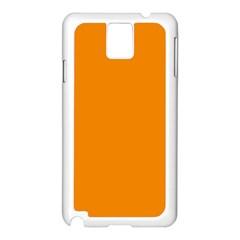 Plain Orange Samsung Galaxy Note 3 N9005 Case (White)