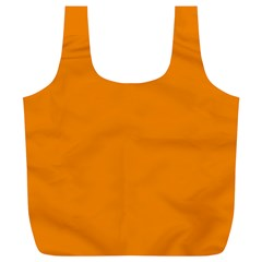 Plain Orange Full Print Recycle Bags (L)