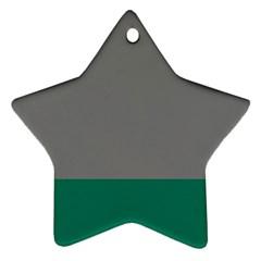 Trolley Grey Green Tropical Ornament (star)