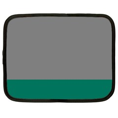Trolley Grey Green Tropical Netbook Case (XL)