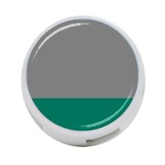Trolley Grey Green Tropical 4-Port USB Hub (One Side)