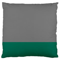 Trolley Grey Green Tropical Large Cushion Case (Two Sides)