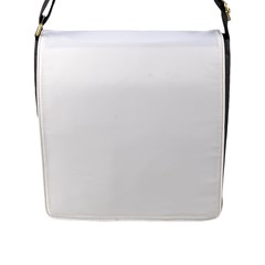 Plain White Flap Messenger Bag (L)