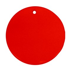 Plain Orange Red Round Ornament (Two Sides)