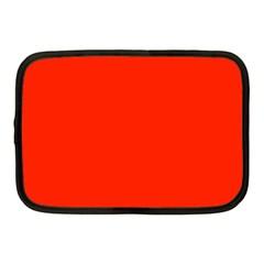 Plain Orange Red Netbook Case (Medium)