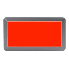 Plain Orange Red Memory Card Reader (Mini)