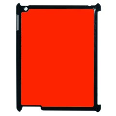 Plain Orange Red Apple iPad 2 Case (Black)