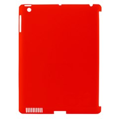 Plain Orange Red Apple iPad 3/4 Hardshell Case (Compatible with Smart Cover)