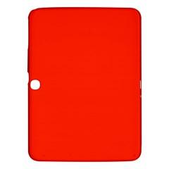 Plain Orange Red Samsung Galaxy Tab 3 (10.1 ) P5200 Hardshell Case
