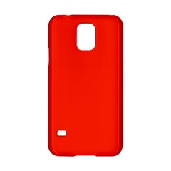 Plain Orange Red Samsung Galaxy S5 Hardshell Case