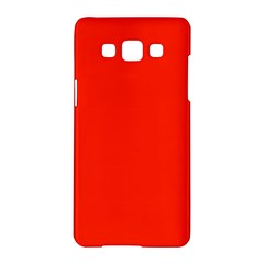 Plain Orange Red Samsung Galaxy A5 Hardshell Case