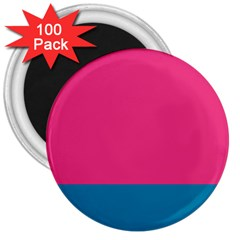 Trolley Pink Blue Tropical 3  Magnets (100 pack)