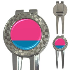 Trolley Pink Blue Tropical 3-in-1 Golf Divots