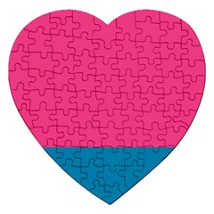 Trolley Pink Blue Tropical Jigsaw Puzzle (Heart)