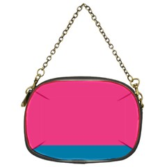 Trolley Pink Blue Tropical Chain Purses (One Side)
