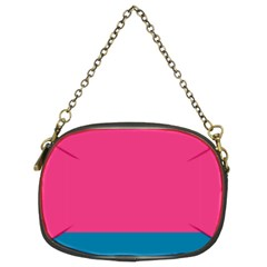 Trolley Pink Blue Tropical Chain Purses (Two Sides)