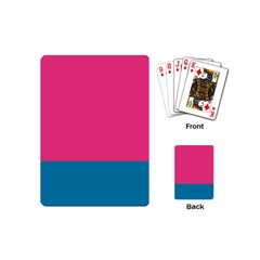 Trolley Pink Blue Tropical Playing Cards (Mini)