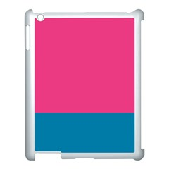 Trolley Pink Blue Tropical Apple iPad 3/4 Case (White)