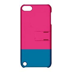 Trolley Pink Blue Tropical Apple iPod Touch 5 Hardshell Case with Stand