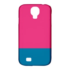 Trolley Pink Blue Tropical Samsung Galaxy S4 Classic Hardshell Case (PC+Silicone)