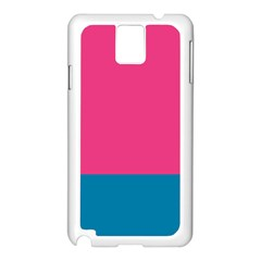 Trolley Pink Blue Tropical Samsung Galaxy Note 3 N9005 Case (White)