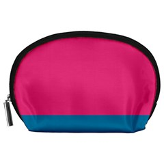 Trolley Pink Blue Tropical Accessory Pouches (Large)