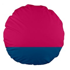 Trolley Pink Blue Tropical Large 18  Premium Flano Round Cushions