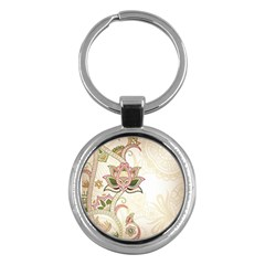 Floral Flower Star Leaf Gold Key Chains (Round)