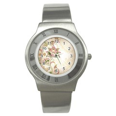 Floral Flower Star Leaf Gold Stainless Steel Watch