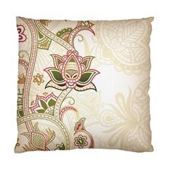Floral Flower Star Leaf Gold Standard Cushion Case (One Side)