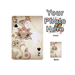 Floral Flower Star Leaf Gold Playing Cards 54 (Mini)