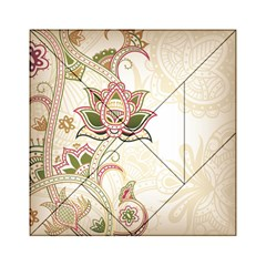 Floral Flower Star Leaf Gold Acrylic Tangram Puzzle (6  x 6 )