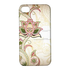 Floral Flower Star Leaf Gold Apple iPhone 4/4S Hardshell Case with Stand