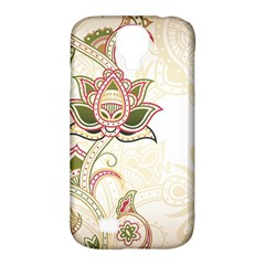 Floral Flower Star Leaf Gold Samsung Galaxy S4 Classic Hardshell Case (PC+Silicone)