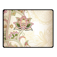 Floral Flower Star Leaf Gold Double Sided Fleece Blanket (Small)